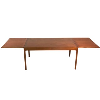 Danish Modern Børge Mogensen Teak Drop Leaf Dining Table by Erhard Rasmussen