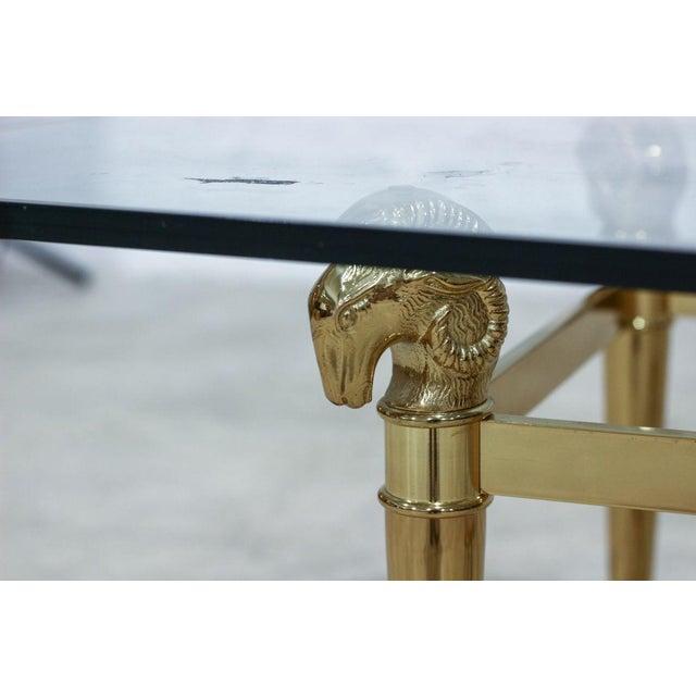 Ram's Head Brass Coffee Table - Image 5 of 5