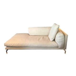 Design Within Reach Leather Como Chaise