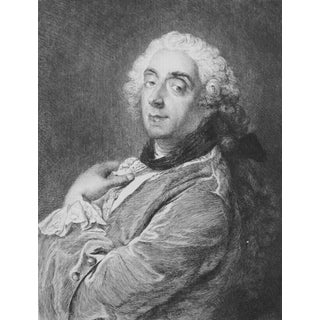 1856 French Rococo Boucher Portrait Print
