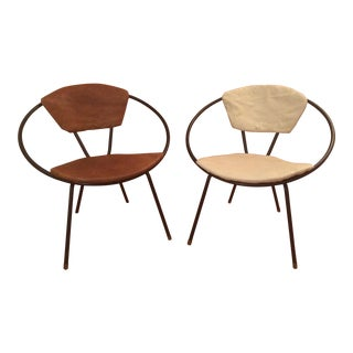Mid-Century Hoop Chairs - A Pair
