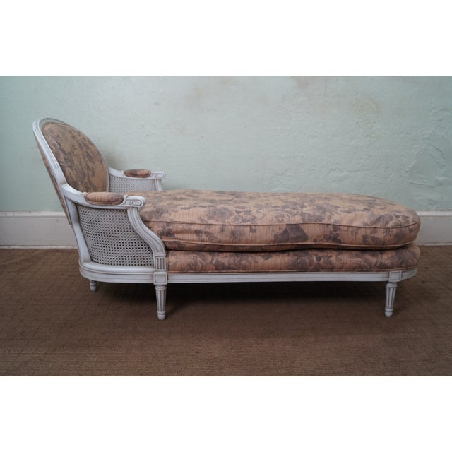 quality french louis xvi style chaise lounge chairish. Black Bedroom Furniture Sets. Home Design Ideas