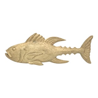 Wooden Decorative Fish Figurine