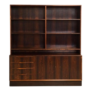 Danish Modern Rosewood Bookcase Cabinet