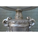 Image of Pair of Italian Silver Gilt Urn Lamps with Parchment Shades