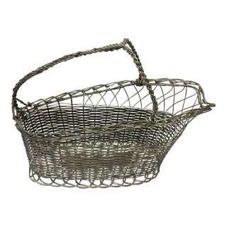Antique Silver Wine Basket