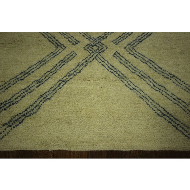 Diamond Moroccan Hand Knotted Rug - 10' x 13' - Image 5 of 10