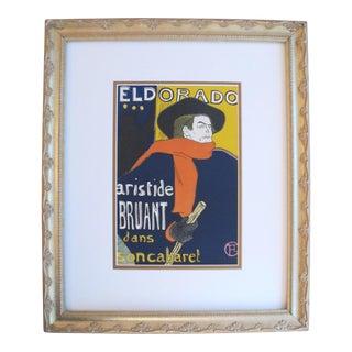 Toulouse Lautrec 1950 Aristide Bruant Framed Poster