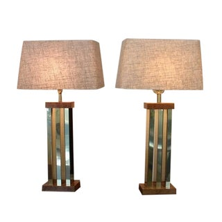 Paul Evans Style Table Lamps - A Pair