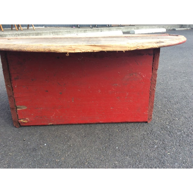 Image of IndustrialRed & Brown Wooden Coffee Table
