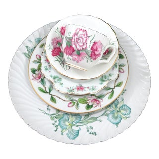 Vintage Mismatched Fine China Dinnerware