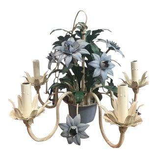 Vintage Floral Ivy Tole Chandelier