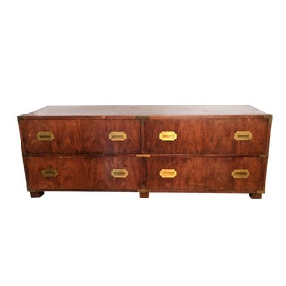 Vintage Campaign Style Low Dresser
