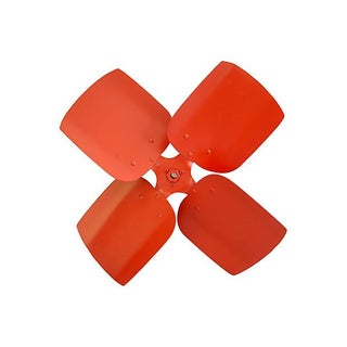 Mid-Century Vibrant Red Metal Propeller Wheel