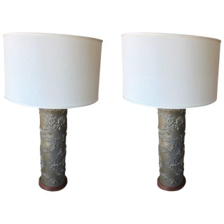 Wallpaper Roller Table Lamps - A Pair