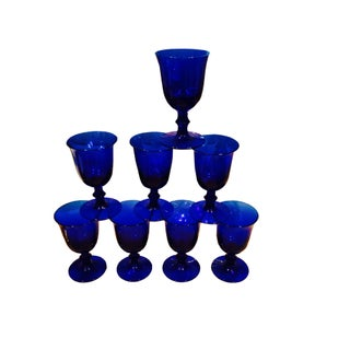 Blue Stem Glasses - Set of 8