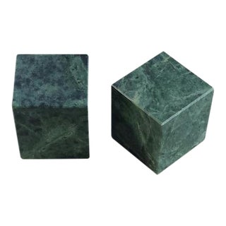 Mid-Century Paper Weight Cubes - A pair