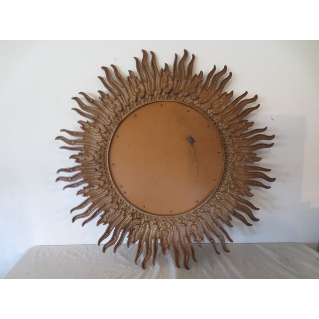 Vintage 1970s Gold Sunburst Mirror - Image 6 of 6