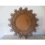 Image of Vintage 1970s Gold Sunburst Mirror