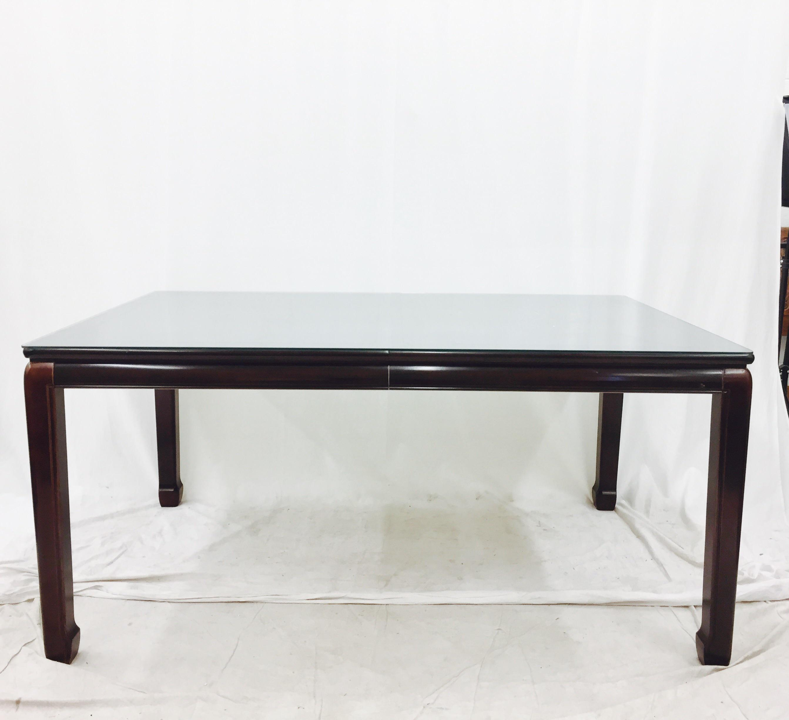 Vintage Drexel Heritage Ming Style Dining Table   Image 4 Of 8