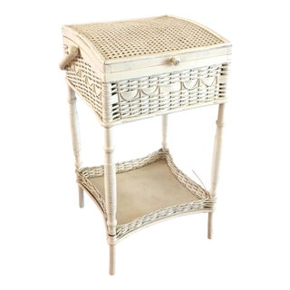 Vintage Haywood-Wakefield Wicker Sewing Caddy