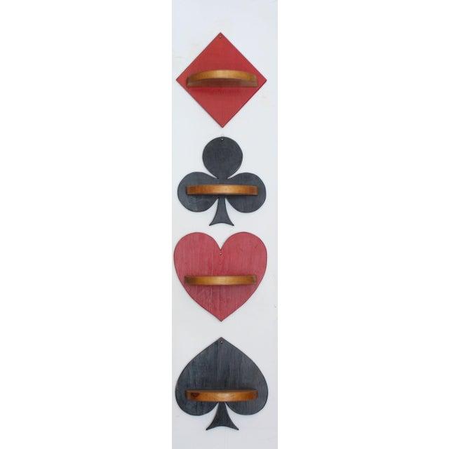 Image of Folk Art Playing Card Suit Wall Shelf