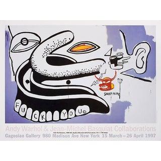 1997 Warhol & Basquiat Exhibit Poster