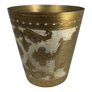 Florentine Gold Waste Bin