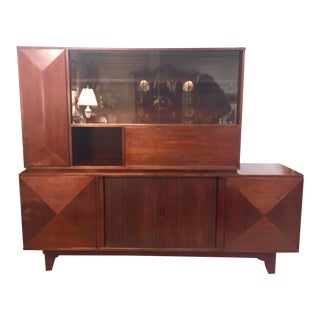Mid-Century Rosewood Sideboard & Hutch