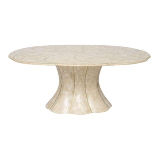 Maitland Smith Tessellated Stone Dining Table with Brass Inlays