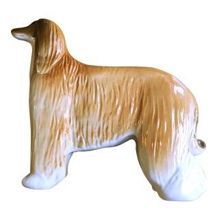 Russian Porcelain Afghan Hound Figurine
