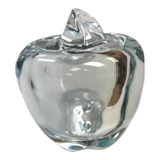Tiffany & Co Crystal Apple Jar Paperweight