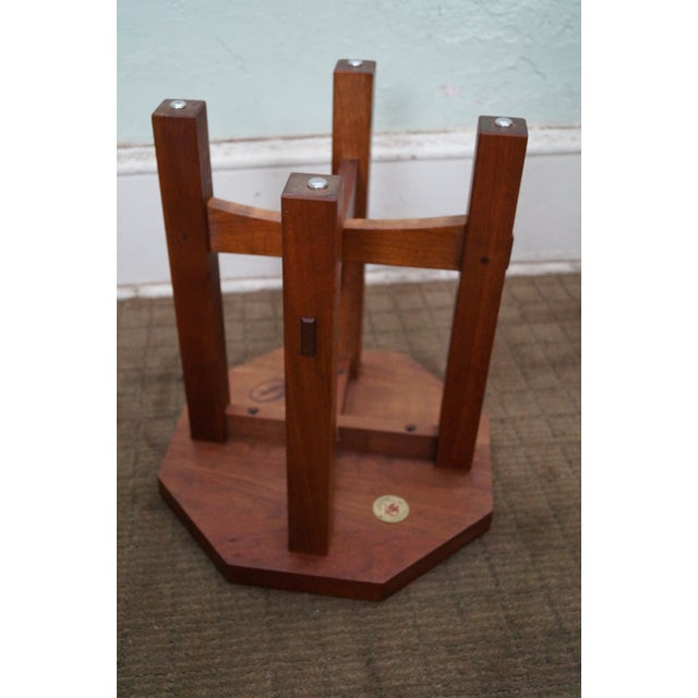 Stickley Mission Style Cherry Side Table (A) - Image 5 of 10