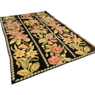 Antique Needlepoint Flora Rug
