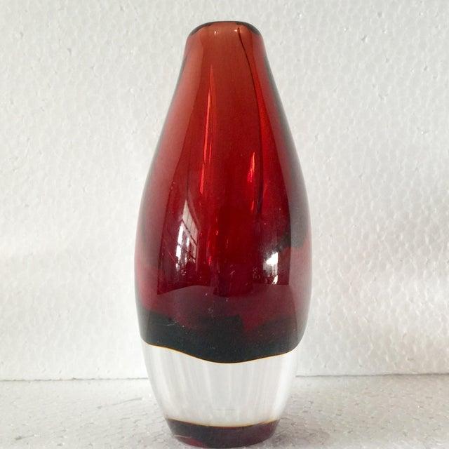 Image of Orrefors Red Art Glass Vase