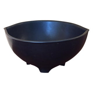MCM Hyalyn Matte Black Footed Bowl