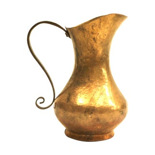 Arts & Crafts Hammered Copper Pitcher