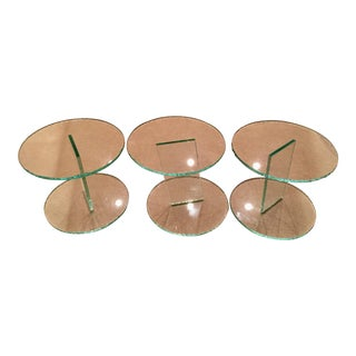 Modern Glass End Tables - Set of 3