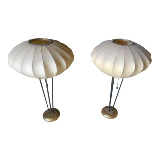 Mid-Century George Nelson Bubble Table Lamps - A Pair