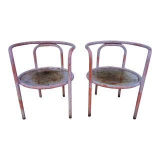 Vintage Gae Aulenti Locus Solus Chairs - A Pair