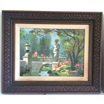 Image of Vintage Parkscape Paintings - A Pair