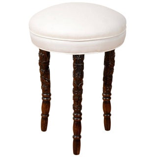 Black Forest Upholstered Stool