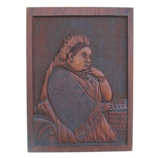 Queen Victoria of England Carved Plaque