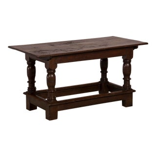 English Antique Jacobean Style Oak Refectory Table or Sofa Table circa 1825