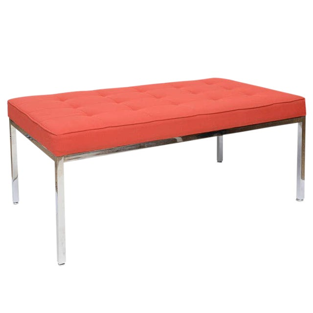 Florence Knoll Stainless Steel Bench - Image 1 of 9