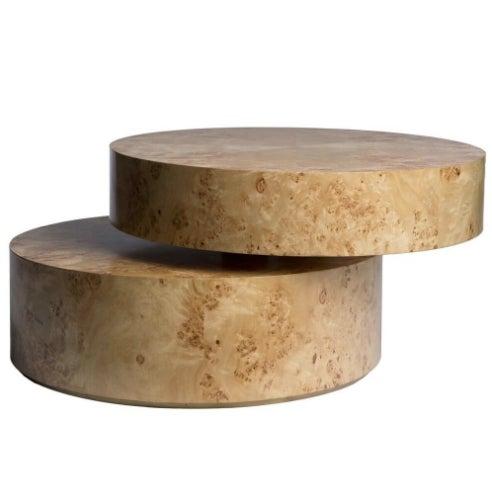 Image of Burled Maple Pivot Coffee Table