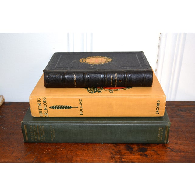 Image of Antique Decorative Books - Set of Three