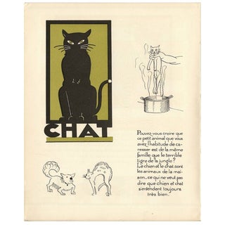 1930s French Art Deco Cat Giclée Print
