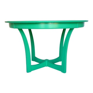 Kelly Green Gloss Mid-Century Dining Table