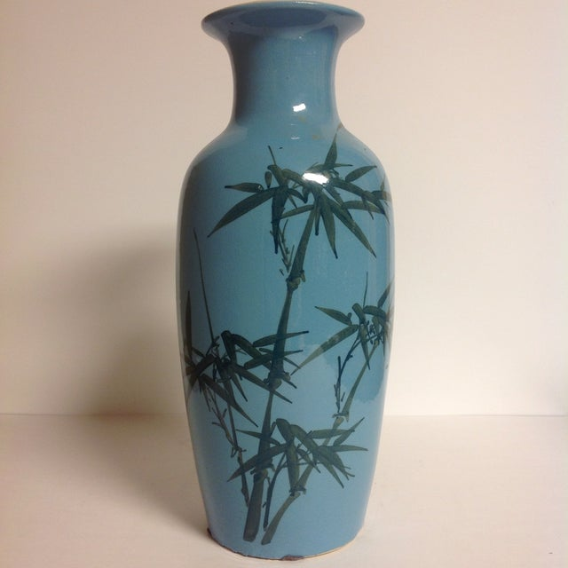 Image of Vintage Japanese Turquoise Vases - A Pair